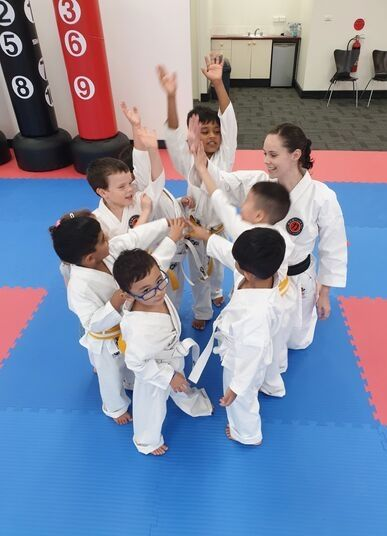 happy, confident, and caring Goshukan Karate kids